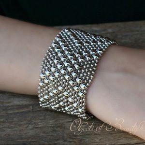 Liquid Metal Silver Bracelet